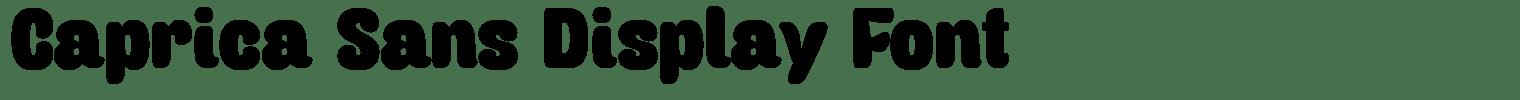 Caprica Sans Display Font