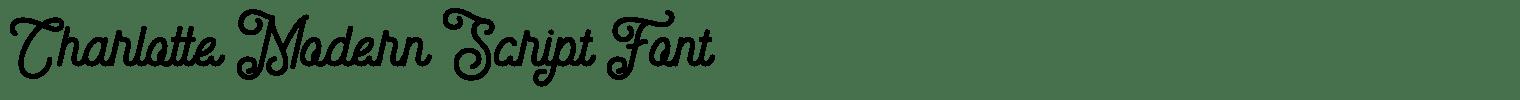Charlotte Modern Script Font