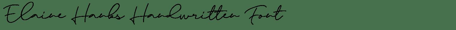 Elaine Hanks Handwritten Font