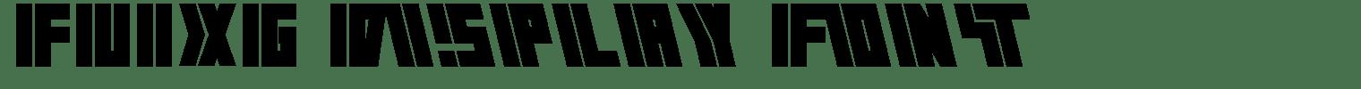 FUIXG Display Font