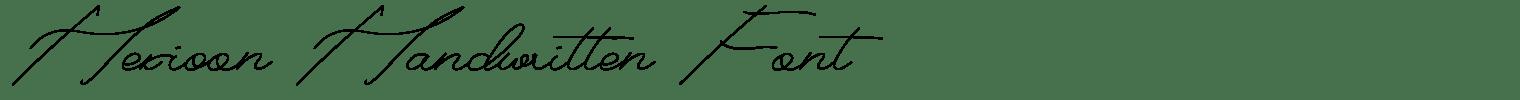 Hexioon Handwritten Font