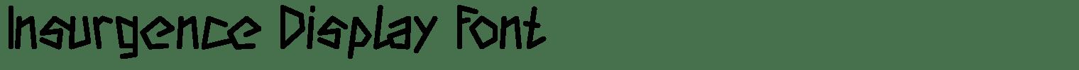 Insurgence Display Font