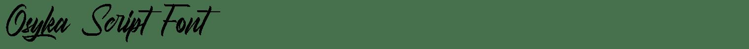 Osyka Script Font