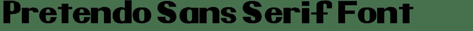 Pretendo Sans Serif Font