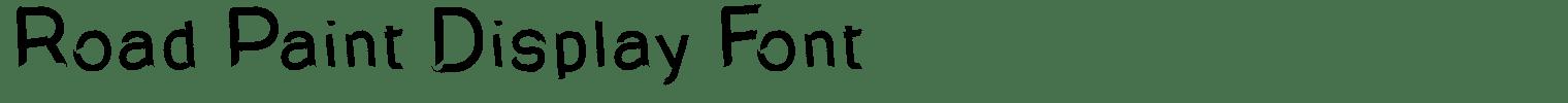 Road Paint Display Font