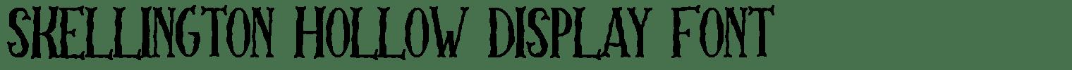 Skellington Hollow Display Font