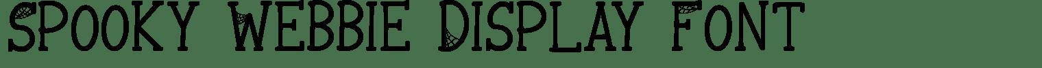 Spooky Webbie Display Font