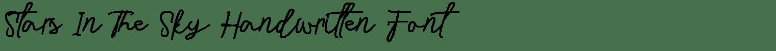 Stars In The Sky Handwritten Font