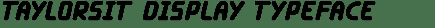 Taylorsit Display Typeface