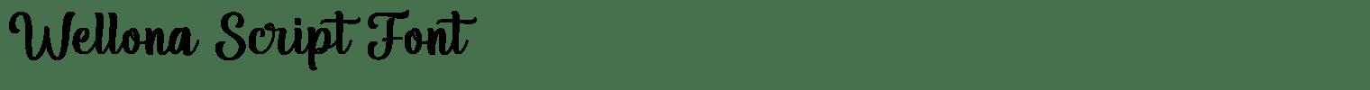 Wellona Script Font