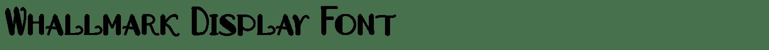 Whallmark Display Font