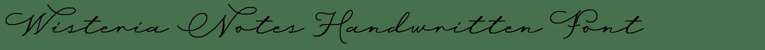 Wisteria Notes Handwritten Font