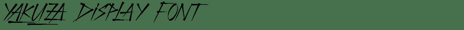 Yakuza Display Font