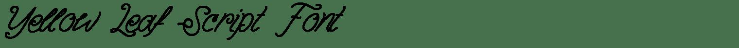 Yellow Leaf Script Font