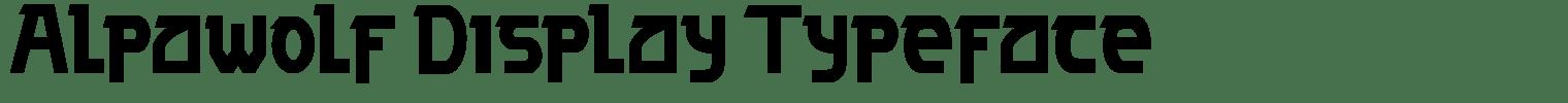 Alpawolf Display Typeface