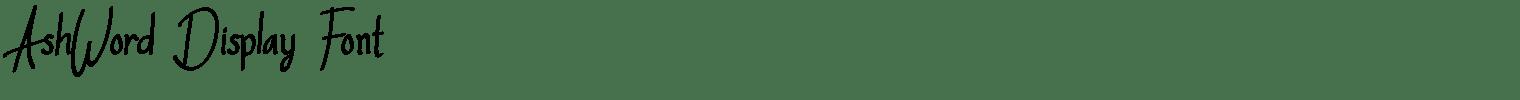 AshWord Display Font