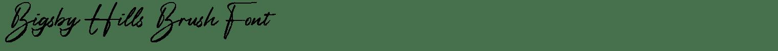 Bigsby Hills Brush Font