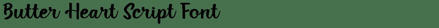 Butter Heart Script Font