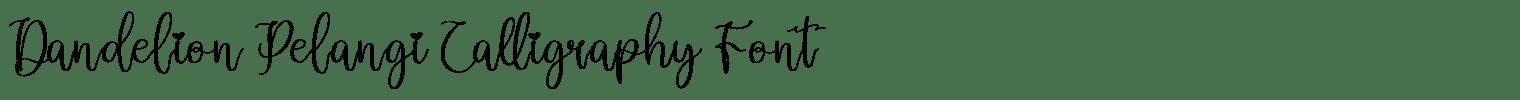 Dandelion Pelangi Calligraphy Font