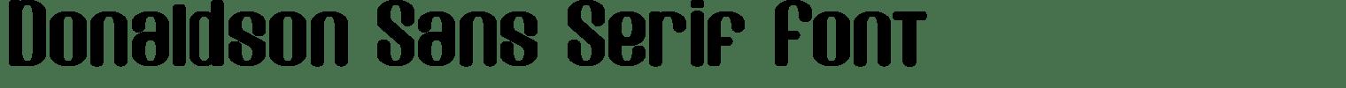 Donaldson Sans Serif Font