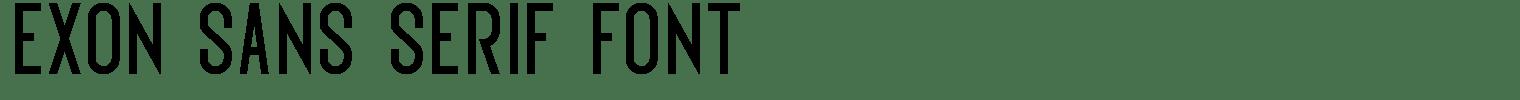 Exon Sans Serif Font