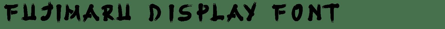 Fujimaru Display Font