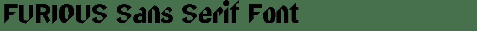 FURIOUS Sans Serif Font