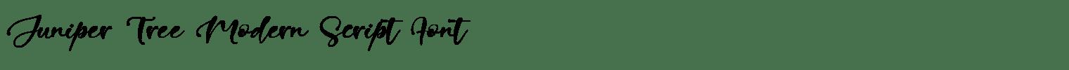 Juniper Tree Modern Script Font