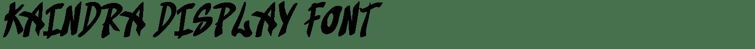 Kaindra Display Font