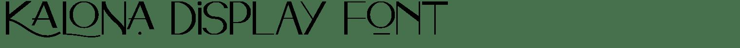 Kalona Display Font