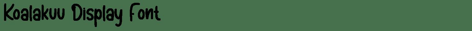 Koalakuu Display Font