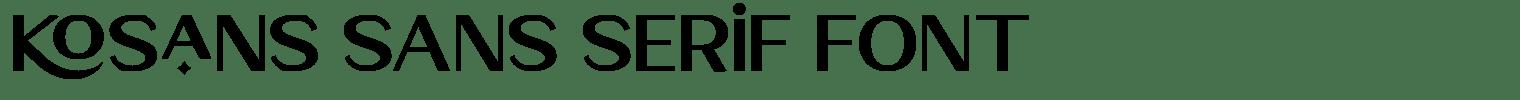 Kosans Sans Serif Font
