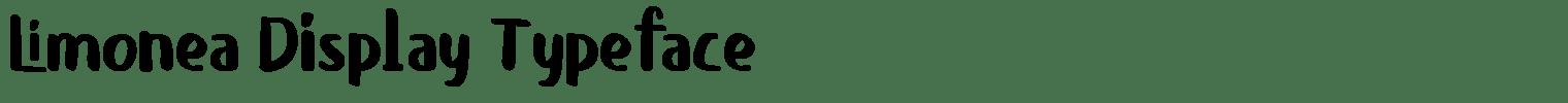 Limonea Display Typeface