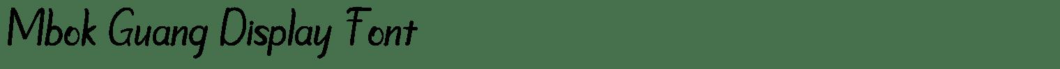 Mbok Guang Display Font