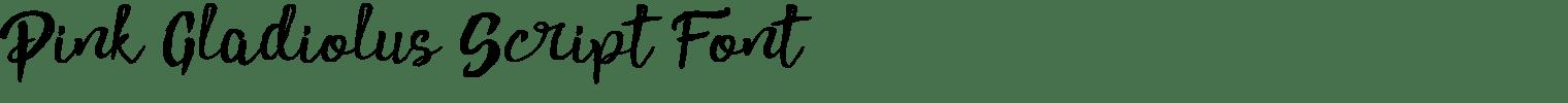 Pink Gladiolus Script Font