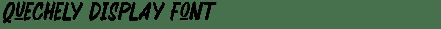 Quechely Display Font