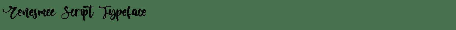 Renesmee Script Typeface