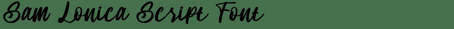 Sam Lonica Script Font