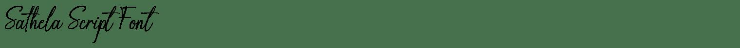Sathela Script Font