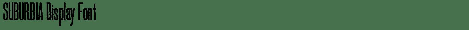 SUBURBIA Display Font
