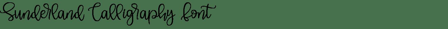 Sunderland Calligraphy Font