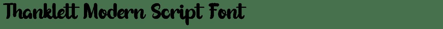 Thanklett Modern Script Font