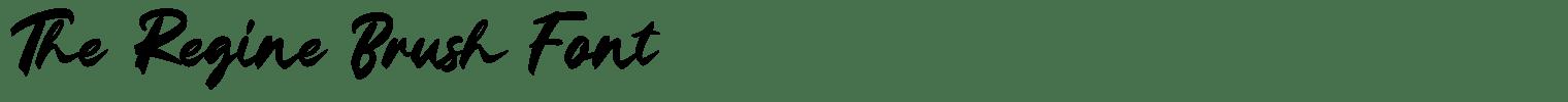 The Regine Brush Font