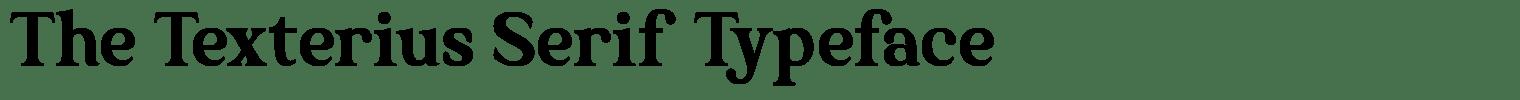 The Texterius Serif Typeface