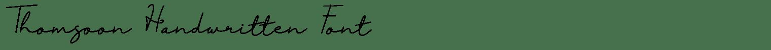 Thomsoon Handwritten Font