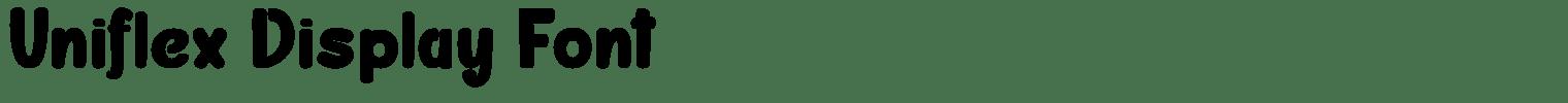 Uniflex Display Font