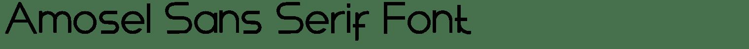 Amosel Sans Serif Font
