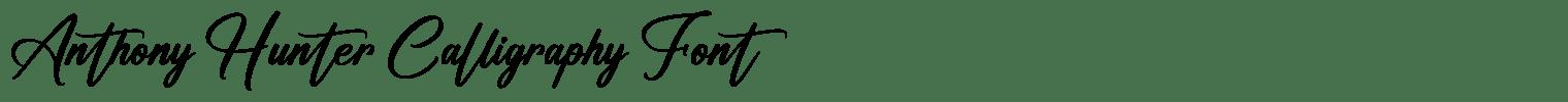 Anthony Hunter Calligraphy Font