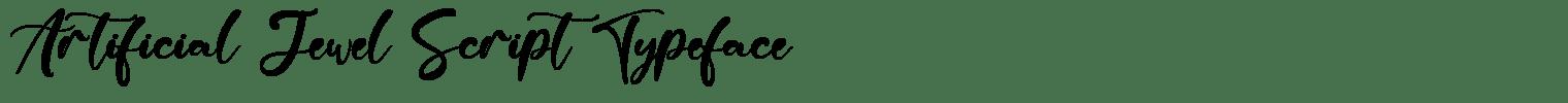 Artificial Jewel Script Typeface