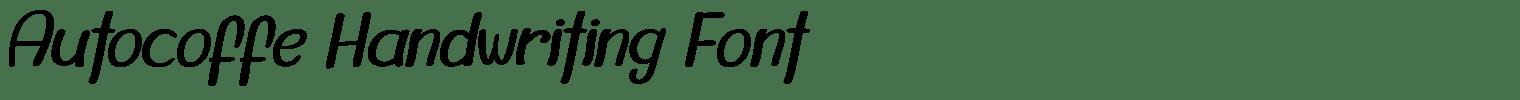 Autocoffe Handwriting Font